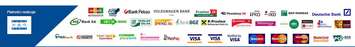 Obsługiwane płatności elektroniczne